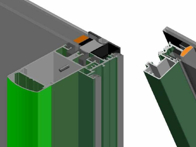Dual Side Cap Facade System