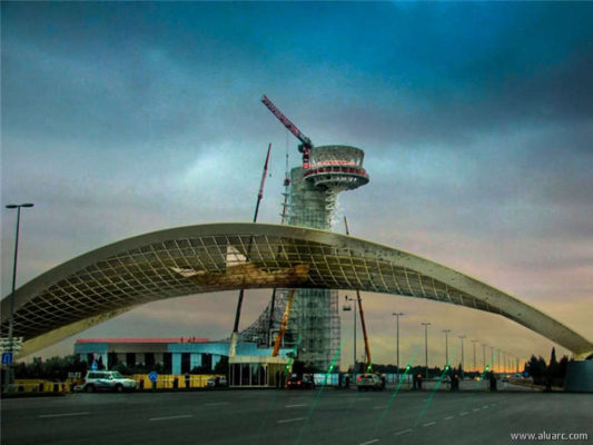 facade-systems-projects-Baku Airport - Air Control Tower
