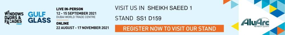 ALUARC-SS1 D159-WDF Event & Gulf Glass 2021 - Exhibitor website banner-1